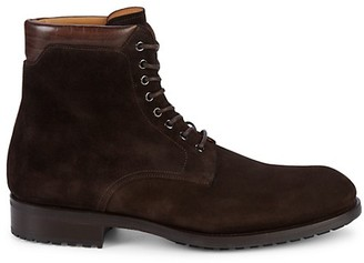 Magnanni Lace-Up Suede Boots