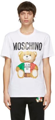 Moschino White Toy Italian Teddy Bear T-Shirt