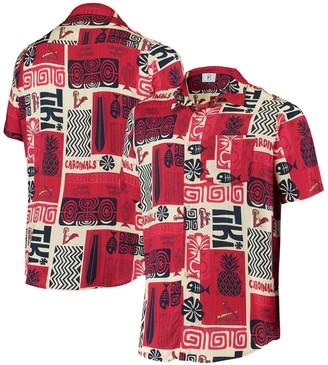 Men's Red St. Louis Cardinals Tiki Button-Up Shirt