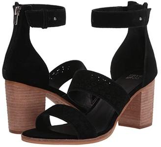 Frye AND CO. Bryn Perf Sandal (Black Suede) High Heels