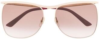 Gucci Oversized Metal-Frame Sunglasses