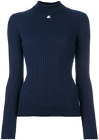 Courreges ribbed knitted blouse - women - Cotton/Cashmere - 2