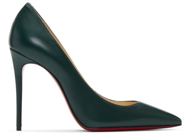 Christian Louboutin Green Nappa Kate Heels