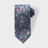 Paul Smith Men's Sky Blue 'Leaf Floral' Silk Tie