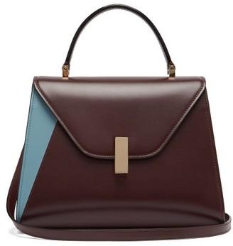 Valextra Iside Medium Leather Bag - Womens - Burgundy Multi
