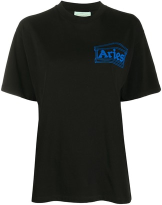 Aries Temple logo print T-shirt