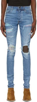 Amiri Blue Hawaiian Patch Jeans