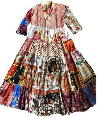 RIANNA + NINA Multicolour Silk Dress for Women