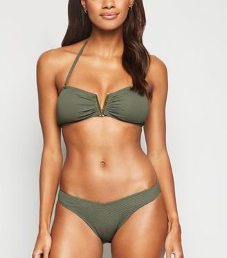 New Look Chevron V Front Bikini Bottoms