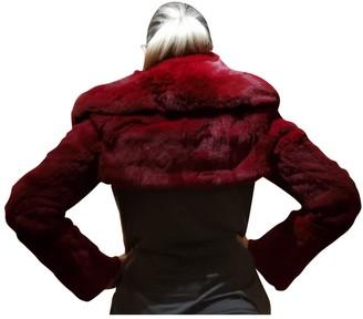 Sonia Rykiel Red Fox Leather Jacket for Women