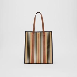 Burberry Icon Stripe E-canvas Portrait Tote Bag