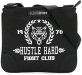 Plein Sport - logo print messenger bag - men - Nylon - One Size