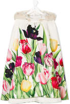 Love Made Love tulip print cape