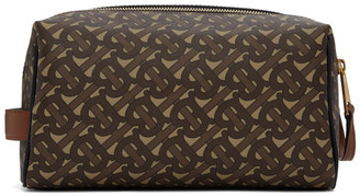 Burberry Brown Monogram E-Canvas Hart Travel Pouch