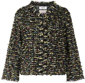 Coohem Collarless Tweed Jacket