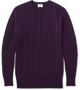William Lockie - Orwell Cable-knit Cashmere Sweater - Purple