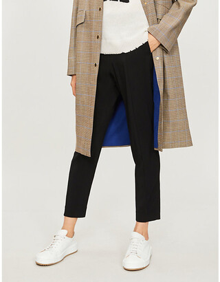 Zadig & Voltaire Panda tapered-leg crepe trousers