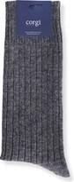 Corgi Cashmere rib-knit socks