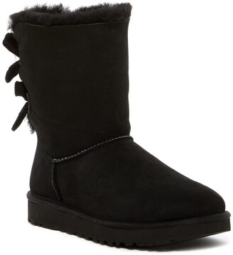 UGG Bailey Twinface Genuine Shearling & Bow Corduroy Boot
