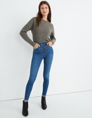 """Madewell 10"""" High-Rise Skinny Jeans in Mackey Wash: Button-Front Edition"""