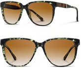 Shwood Women's 'Mckenzie' 57Mm Retro Sunglasses - Black/ Ebony/ Grey Fade