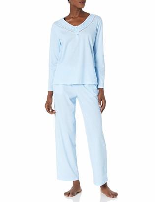 Karen Neuburger Women's Pajamas Long-Sleeve Pullover Henley Pj Set