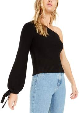 Bar III Becca Tilley x One-Shoulder Volume Sleeve Sweater, Created For Macy's
