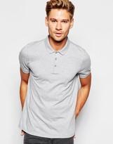 Asos Polo Shirt In Gray Marl