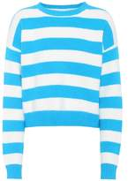 Diane von Furstenberg Striped angora-blend sweater