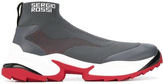 Sergio Rossi Extreme sock style sneakers