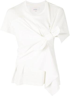 AKIRA NAKA knot-detail T-shirt