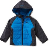 Under Armour Little Boys 2T-7 Werewolf Color Block Hoodie Puffer Jacket