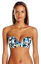 Panache Women's Suki Bra-Sized Molded Strapless Plunge Bandeau Bikini Top with Detachable Straps
