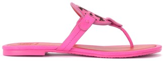 Tory Burch Miller Sandal In Fuchsia And Red Leather