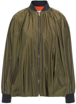 Valentino Gathered Silk-shell Bomber Jacket