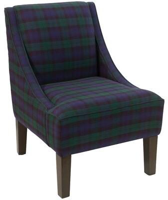 "Alcott Hill Mckamey 24"" Wide Slipper Chair Fabric: Blackwatch Blackwatch"