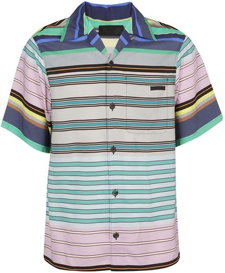 Prada Striped Short-Sleeve Shirt