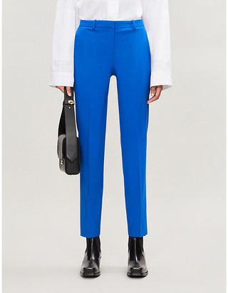 Theory Hartsdale cropped crepe trousers