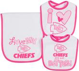 Gerber Kansas City Chiefs Heart Bib & Burp Cloth Set