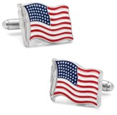 Cufflinks Inc. Men's Cufflinks, Inc. Waving American Flag Cuff Links