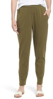 Eileen Fisher Petite Women's Stretch Organic Cotton Slim Slouchy Ankle Pants