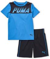Puma Boys 4-7) Two-Piece Athlete Logo Shirt & Shorts Set