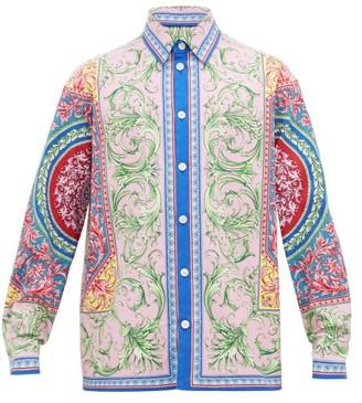 Versace Baroque-print Cotton-blend Twill Overshirt - Mens - Multi