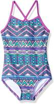 Kanu Surf Big Girls' Carrie Tribal 1-Pc Swimsuit