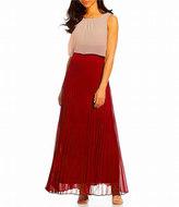 Sangria DWKO624 Sleeveless Popover Accordion Dress