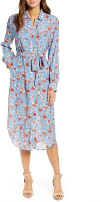 Lucky Brand Floral Midi Shirt Dress