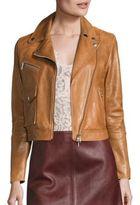 SET Cropped Leather Moto Jacket