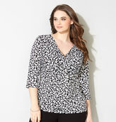 Avenue Blurry Dot Knot Front Top