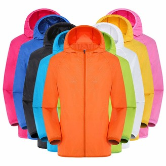 Gofodn Coats for Women Plus Size Ladies Clothing Outdoor Solid Hooded Riding Long Sleeve Sun Protection Clothing 9 Colour Black