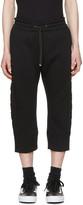 Helmut Lang Black 3d Logo Jogger Pants